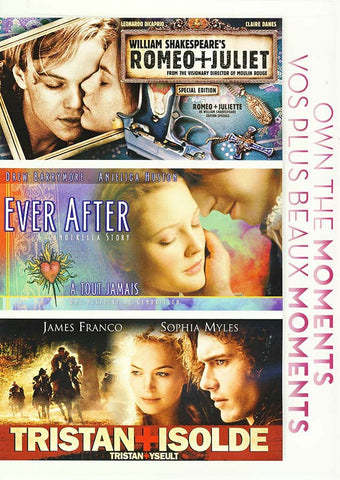 Romeo and Juliet (William Shakespeare s) / Ever After/ Tristan and Isolde(Bilingual) DVD Movie