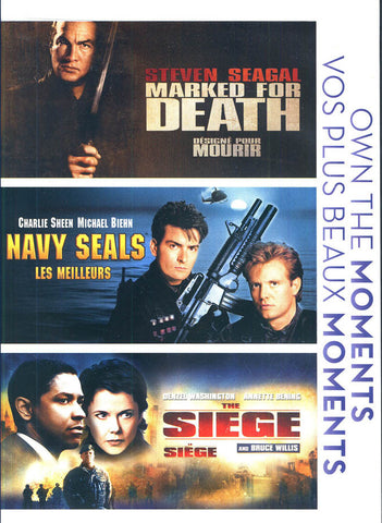 Marked For Death / Navy Seals / The Siege (Bilingual) (Boxset) DVD Movie