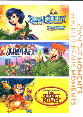 Ferngully - The Last Rainforest / Troll in Central Park / The Secret Nimh (Bilingual) (Boxset) DVD Movie
