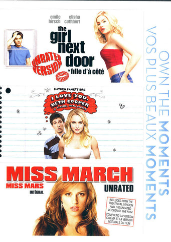 Girl Next Door / I Love You, Beth Cooper / Miss March (Boxset) DVD Movie