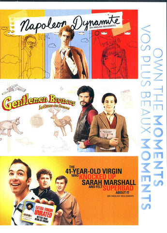 Napoleon Dynamite / Gentlemen Broncos /The 41 Year Old Virgin Who Knocked Up Sarah Marshall (Boxset) DVD Movie
