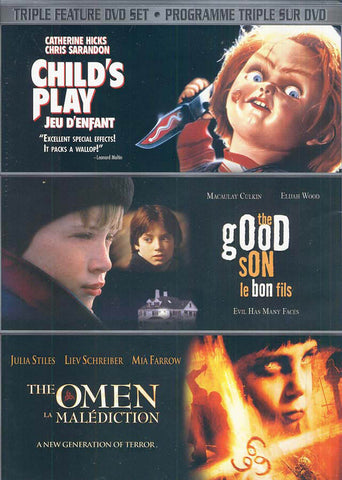 Child s Play /The Good Son /The Omen (Triple Feature DVD Set) (Bilingual) DVD Movie