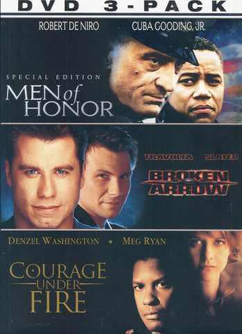 Men of Honor / Broken Arrow /Courage Under Fire (Broken Honor 3 Pack) (Boxset) DVD Movie