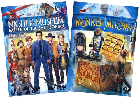 Night At The Museum Battle Of The Smithsonian / Monkey Mischief - 2 Pack (Bilingual)(Boxset) DVD Movie