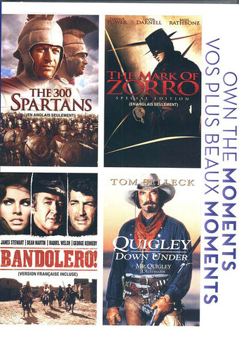 The 300 Spartans/ The Mark Of Zorro/ Bandolero/ Quigley Down Under (Bilingual)(Boxset) DVD Movie