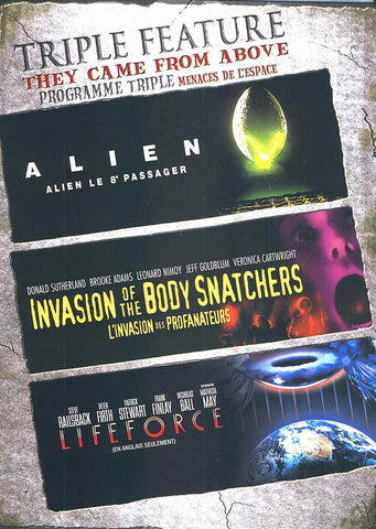 Alien/Invasion Of The BodySnatchers/Lifeforce (Triple Feature) (Bilingual) DVD Movie