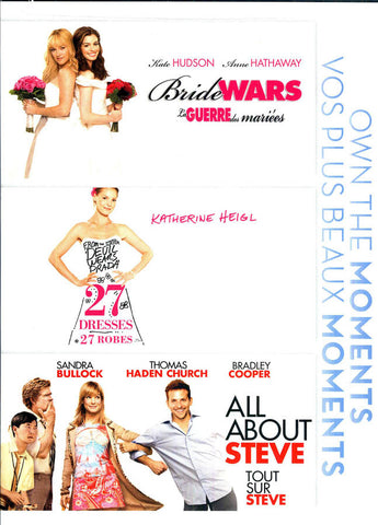 Bride Wars / 27 Dresses/ All About Steve (Bilingual) (Triple Feature) (Boxset) DVD Movie