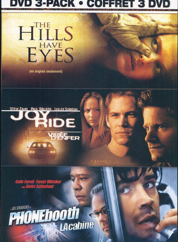 The Hills Have Eyes/ Joy Ride/ Phone Booth (Thrills And Chills 3-Pack) (Bilingual)(Boxset) DVD Movie