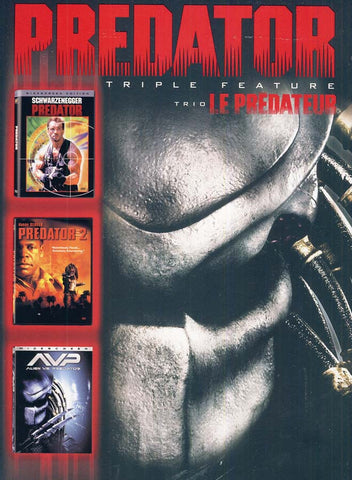 Predator Triple Feature (Predator/ Predator 2/ Alien vs Predator) (Bilingual) (Boxset) DVD Movie