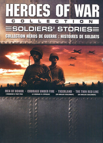 Heroes Of War Collection Soldier's Stories (Men Of Honor/ Courage Under Fire..) (Bilingual)(Boxset) DVD Movie