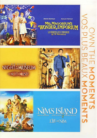 Mr. Magorium's Wonder Emporium / Night at Museum / Nim's Island (Bilingual) (Boxset) DVD Movie