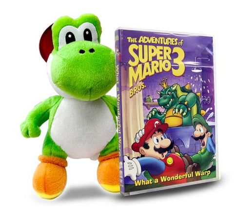 Adventures of Super Mario 3 - What a Wonderful Warp (Includes Super Mario - Yoshi Plush) DVD Movie