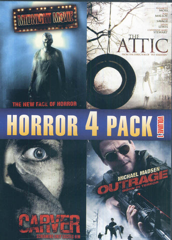 Horror 4 Pack (Midnight Movie / The Attic / Carver / Outrage) DVD Movie