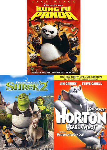 Kung Fu Panda / Shrek 2 / Horton Hears a Who! (Boxset) DVD Movie