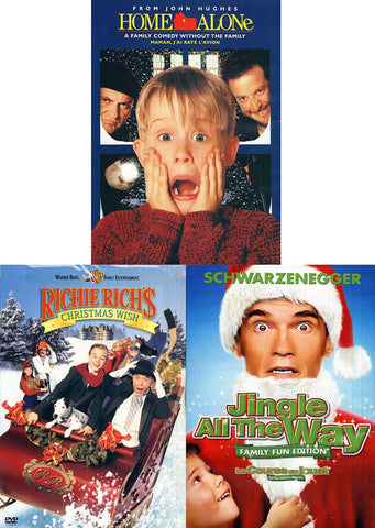 Christmas Pack - Home Alone / Richie Rich's Christmas wish / Jingle All the Way (Boxset) DVD Movie
