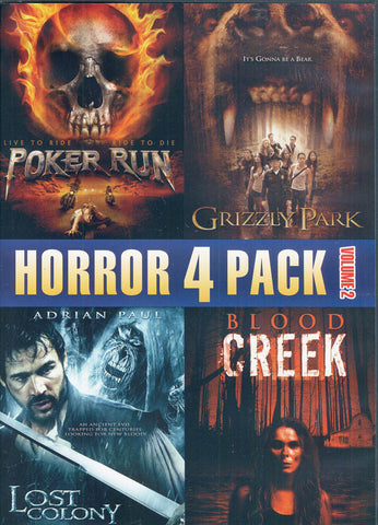 Horror 4 Pack Vol.2 (Poker Run / Grizzly Park / Lost Colony / Blood Creek) DVD Movie