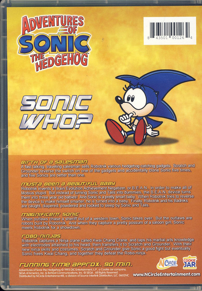 Adventures Of Sonic Hedgehog Sonic Who On Dvd Movie