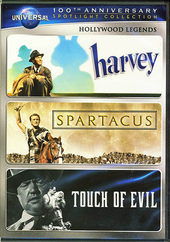 Harvey / Spartacus / Touch of Evil (Hollywood Legends) (Universal s 100th Anniversary) DVD Movie