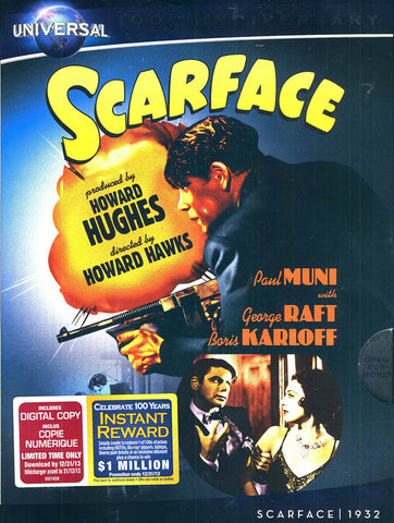 Scarface (Cinema Classics) (Howard Hawks) (Universal's 100th Anniversary)(Slipcover) DVD Movie