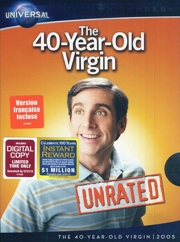 The 40-Year-Old Virgin (Unrated Widescreen Edition) (Universal's 100th Anniversary)(Slipcover) DVD Movie