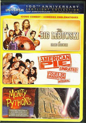 The Big Lebowski/American Pie/Monty Python s The Meaning of Life DVD Movie