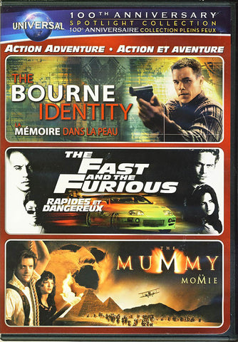 The Bourne Identity / The Fast and the Furious / The Mummy (Universal's 100th Anniversary) DVD Movie