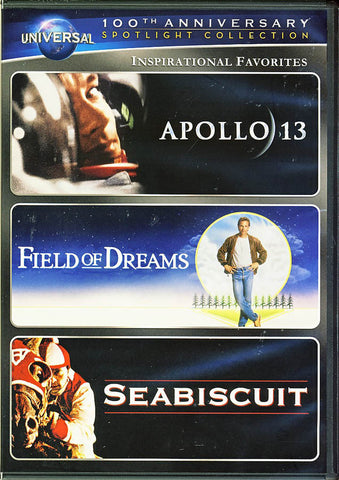 Apollo 13 / Field of Dreams / Seabiscuit (Universal's 100th Anniversary) Inspirational Favorites DVD Movie