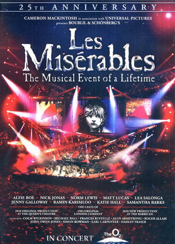 Les Miserables In Concert (25th Anniversary Concert) DVD Movie