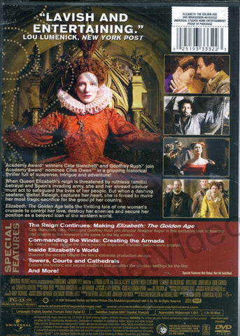 Elizabeth - The Golden Age (Elizabeth L Age D Or) (Bilingual) DVD Movie