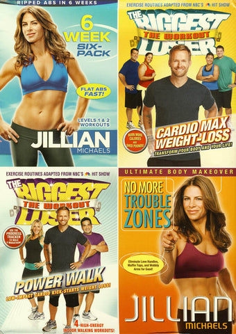 6 Week Six Pack / No More Trouble Zones / Power walk / Cardio Max Weight-loss)(Boxset) DVD Movie