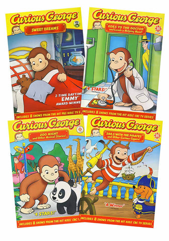Curious George Collection (Sweet Dreams/Goes to the Doctor/Zoo Nights/Sails with Pirates)(Boxset) DVD Movie