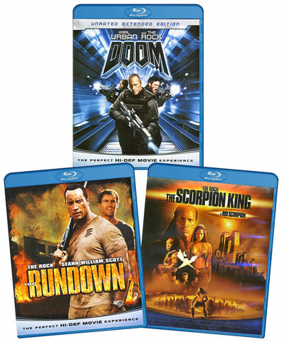 The Rock Action 3-Pack (Rundown / Doom / Scorpion King) (Bilingual) (Blu-ray) BLU-RAY Movie