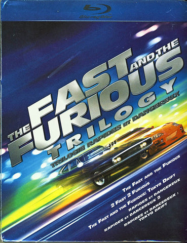 The Fast and the Furious Trilogy (Blu-ray)(Boxset) BLU-RAY Movie