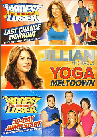 Jillian Michaels Collection (30-Day Jump Start/Last Chance Workout/Yoga Meltdown)(Boxset) DVD Movie