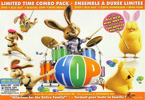 Hop (DVD + Blu-ray + Digital Copy) (Limited Edition Combo Pack) (Blu-ray) (Boxset)(Value Gift Set) BLU-RAY Movie