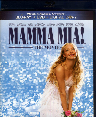 Mamma Mia! The Movie (Blu-ray + DVD + Digital Copy) (Blu-ray) BLU-RAY Movie