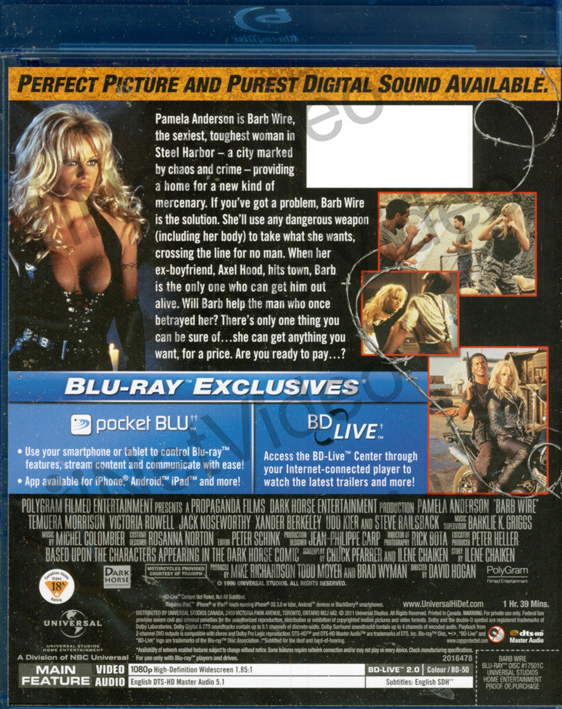 Barb Wire (Blu-ray) on BLU-RAY Movie