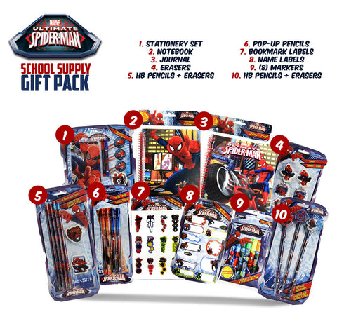 Spider-Man School Supply Gift Pack DVD Movie