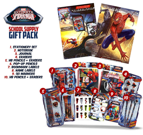 Spider-Man 3 (Exclusive Mini Comic Book,Magnifying Glass and Spider-Man School Supply Gift Pack) DVD Movie