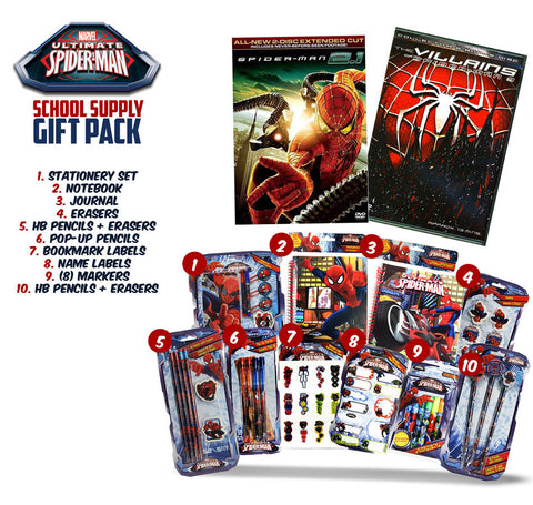 Spider-Man 2.1 (Two Disc Extended Cut) (Includes Spider-Man School Supply Gift Pack) DVD Movie