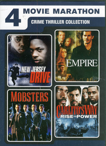 New Jersey Drive/Empire/Mobsters/Carlito s Way: Rise to Power (4 Movie Marathon) DVD Movie
