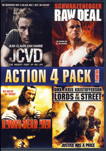 Action 4 Pack - Volume 1 (JCVD / Lords of the Street / Among Dead Men / Raw Deal) DVD Movie