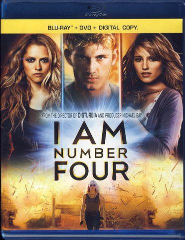 I Am Number Four (Three-Disc Blu-ray + DVD + Digital Copy) (Blu-ray) BLU-RAY Movie