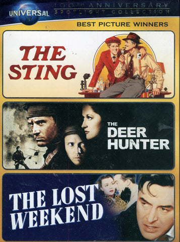 The Sting / The Deer Hunter / The Lost Weekend DVD Movie