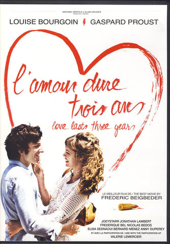 L amour Dure Trois Ans (Love Lasts Three Years) (Bilingual) DVD Movie