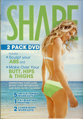 Shape 2 Pack DVD Set- Sculpt Your ABS / Make Over Your Butt, Hips and Thighs (Boxset)