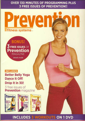 Prevention Fitness System (3 Fitness System) (Better Belly Yoga, Dance it Off!, Drop it in 30!) DVD Movie