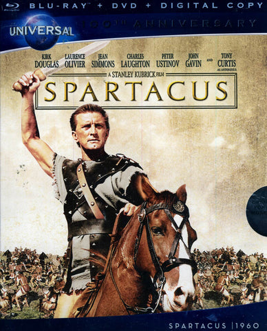 Spartacus (50th Anniversary Edition) (Blu-ray + DVD + Digital Copy) (Blu-ray) BLU-RAY Movie