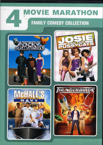 4 Family Comedy - Adventures of Rocky & Bullwinkle / Josie and the Pussycats / McHale s Navy / Thund DVD Movie