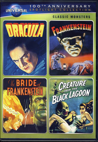 Dracula / Frankenstein/The Bride of Frankenstein/Creature from Black Lagoon DVD Movie
